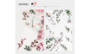 Mẫu số 2 -Phông  3D nền Hoa-Lá