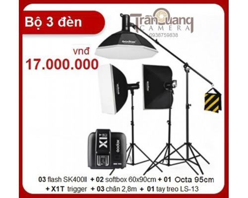 Bộ 3 đèn Godox SK400