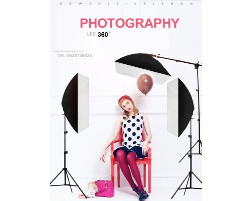 Bộ 3 softbox 9 đèn LED 360 26w