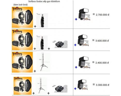 bộ Combo với đèn  flash TT350 for Canon Nikon Sony