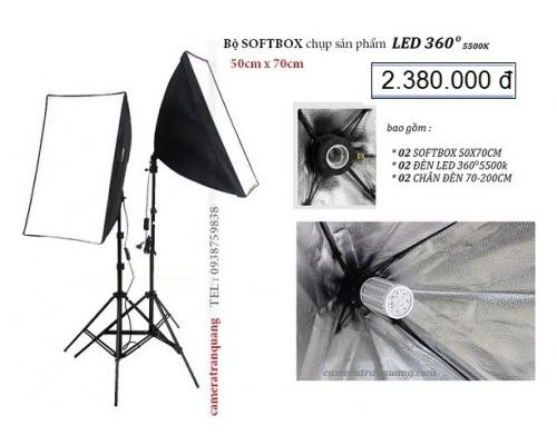 Bộ đèn chụp sản phẩm LED360 5500k 26W