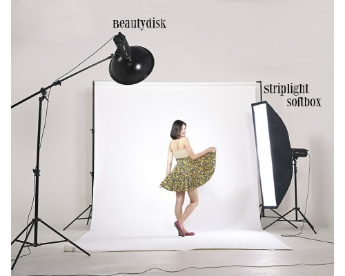 Bộ Beautydisk & Softbox Striplight