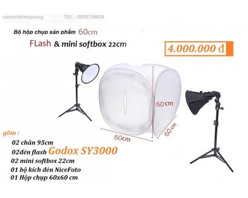 Bộ Hôp chụp 60x60cm 2 đèn FLASH
