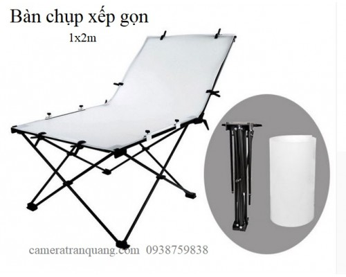 Softbox FLash E120 & Bàn chụp1,2M