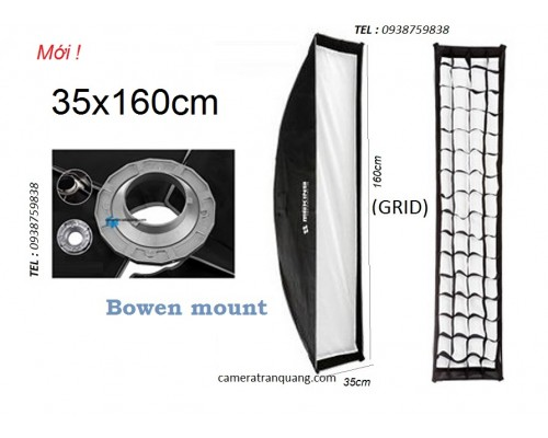 Softbox Striplight  30x120cm GRID