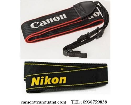 Dây lớn vải thêu LOGO Canon 700D, Nikon...