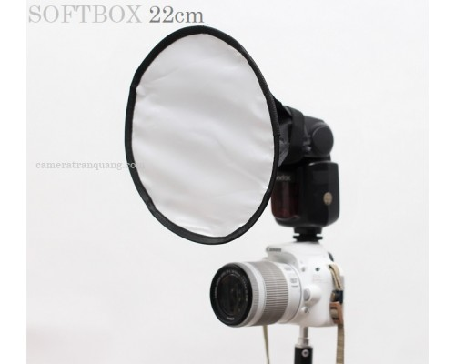 Softbox 21cm tròn cho đèn flash