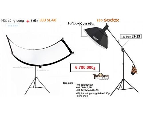 Bộ  Hắt sáng Cong và Đèn SL60w