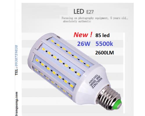 Đèn LED 5500K 26w Mới