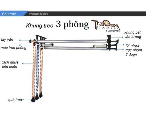 Bộ 3 khung treo phông di động