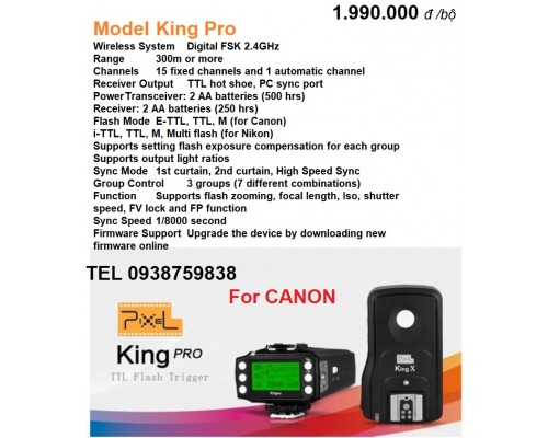 Trigger Pixel KING Pro for CANON
