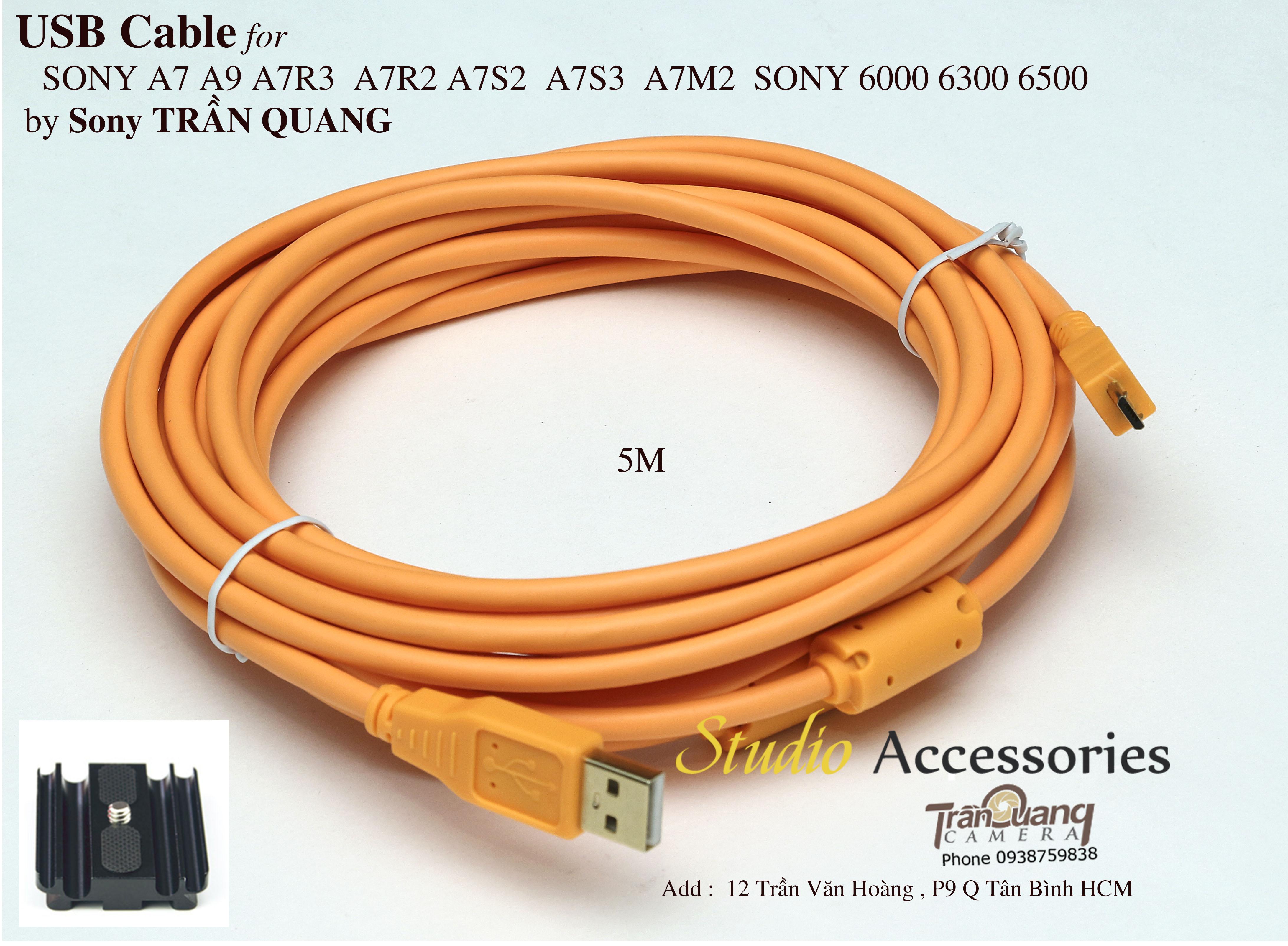 Dây USB cho máy ảnh SONY -Canon - Nikon  Chụp ảnh trực tiếp chụp sản phẩm
