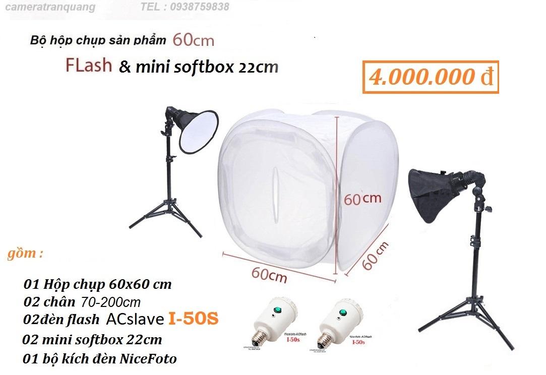 Hôp tròn 60cm  & đèn FLASH