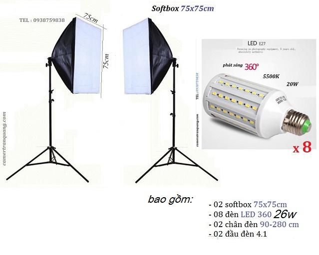 Bộ Softbox 75x75cm