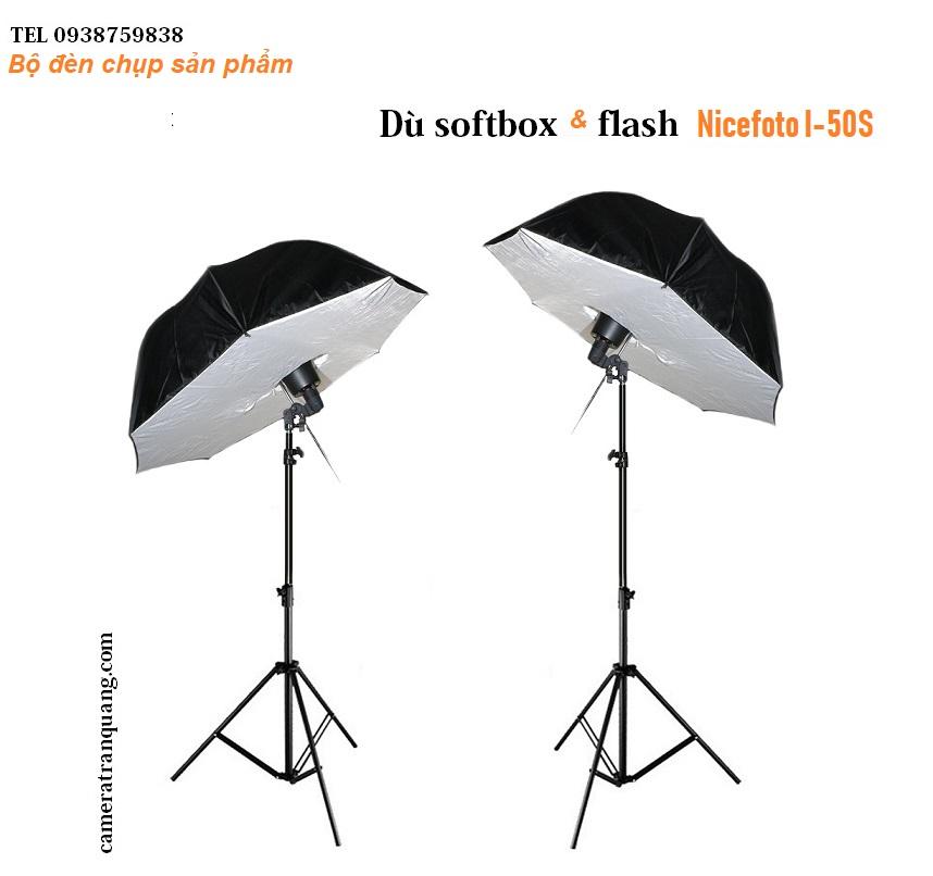 DÙ Softbox và các loại đèn flash