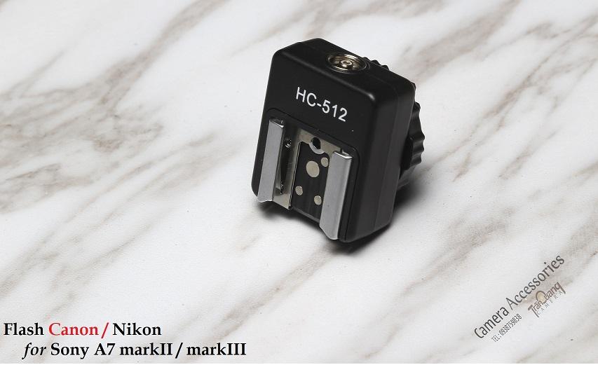 Adapter flash for SONY A7II/III