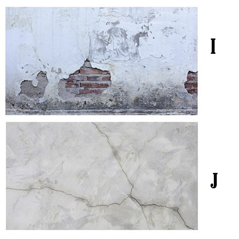 Mẫu I-J Phông tường cũ & Đá trắng