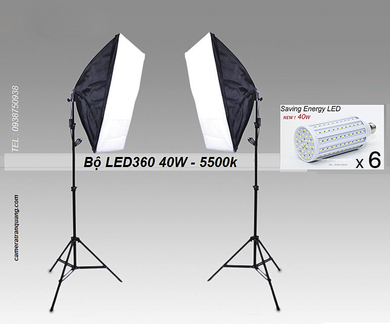 Bộ LED360 40w softbox 50x70cm