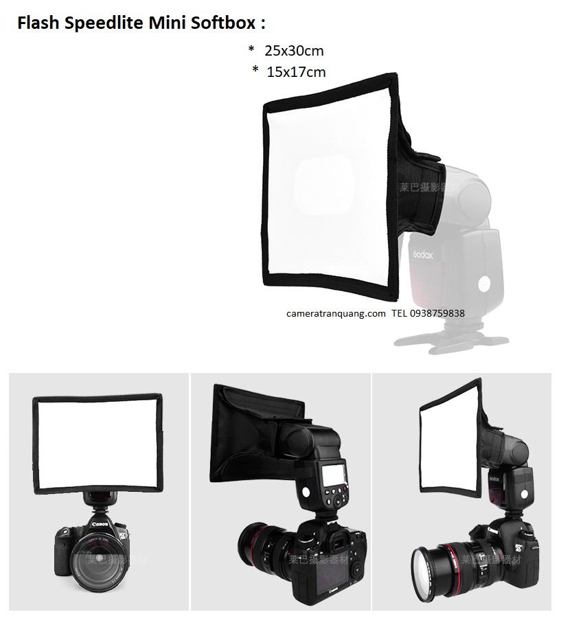 Flash softbox mini 25x30cm 95cm