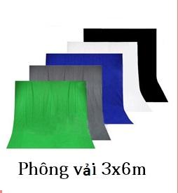 Phông vải 3x6m màu đơn