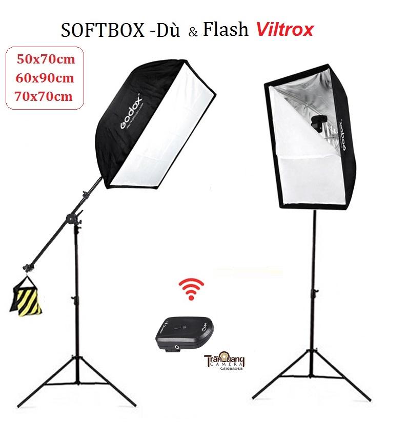 Bộ Softbox-Dù và  đèn Speedlite