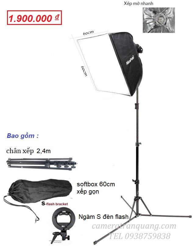 Bộ đèn Cơ động softbox 60cm