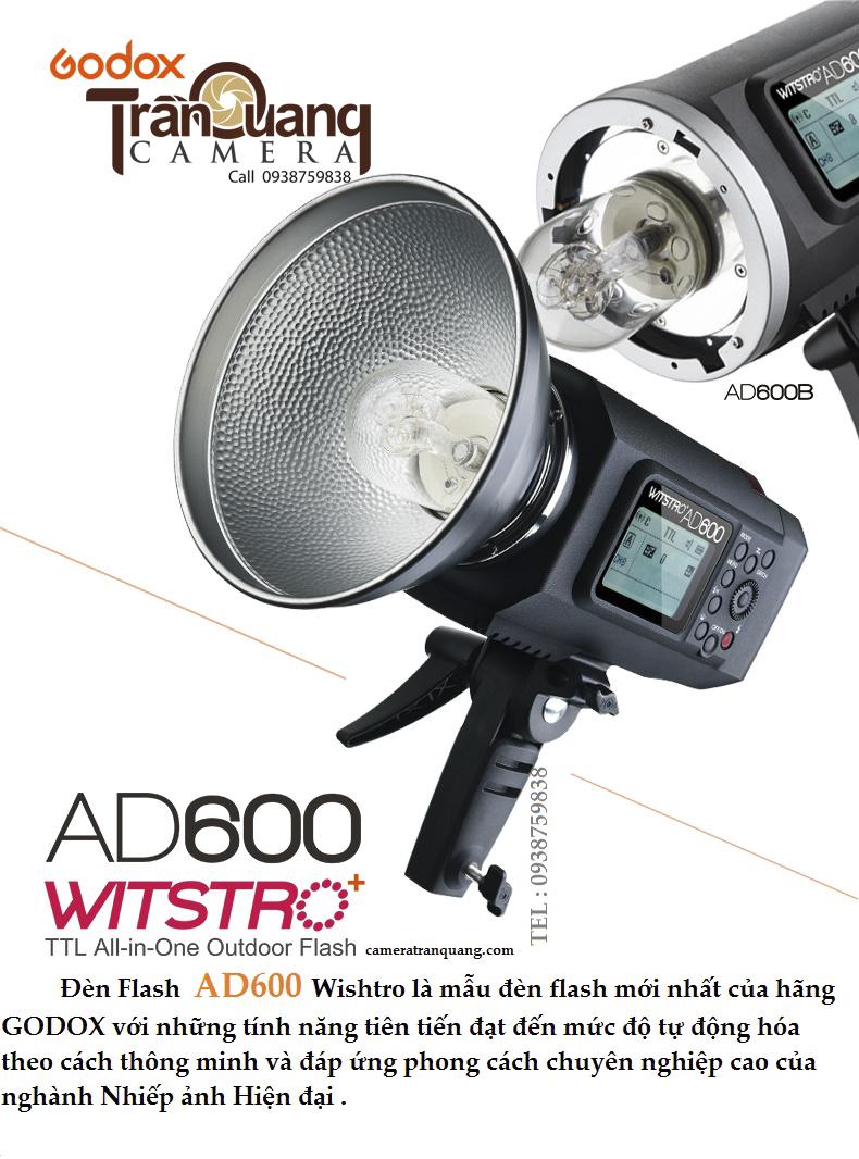 Đèn Godox AD600BM  & trigger XT2